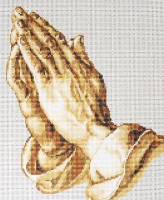 молящиеся руки-вышитые картины