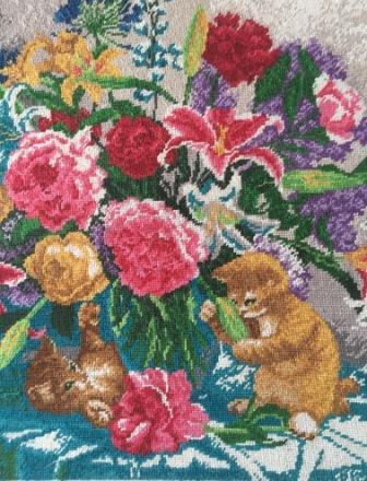 вышивка лилии