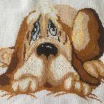 Собака. Лицевая сторона подушки