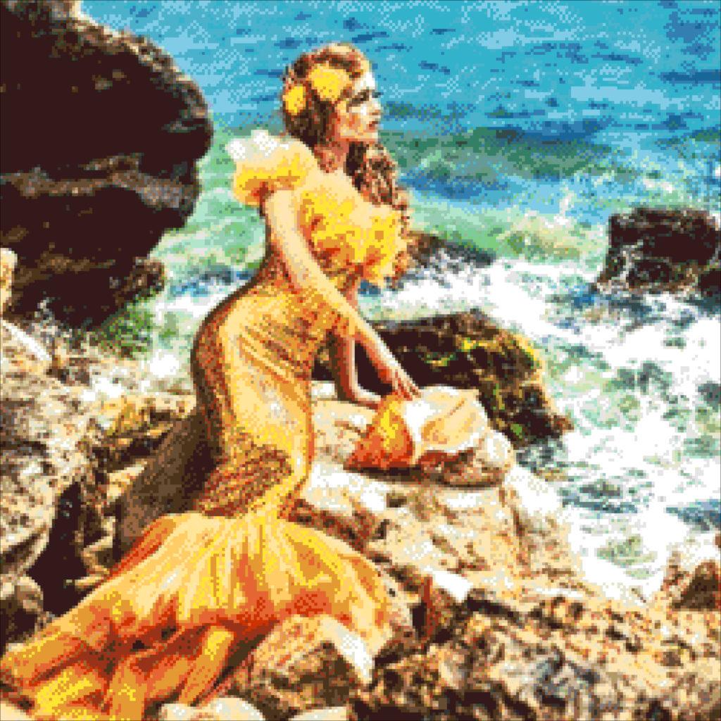 Душа у моря - девушка с ракушкой