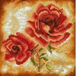 триптих - розы