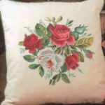Розы -лицевая сторона подушки
