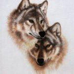 Пара волков - неразлучников