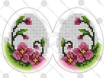 Детские вышивки пасхальных яиц бисером
