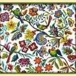 Сэмплер с цветами и птицами