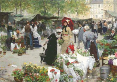 Рынок цветов в Париже