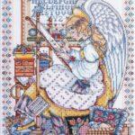 Семплер Ангел вышивки крестом