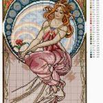 Схемы вышивки по картинам А.Мухи